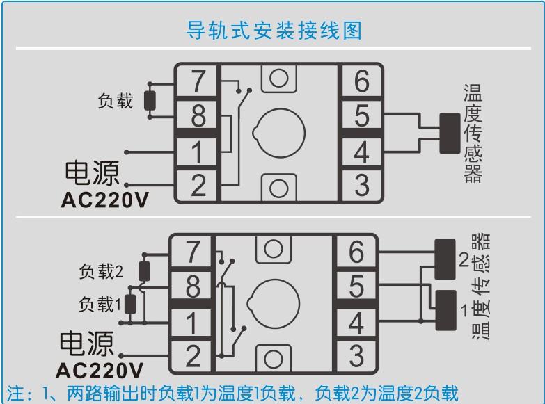 双路温控仪的接线图   双路温控仪的外形图   双路温控仪的安装示意图                   公司拥有标准生产线3条,焊接机3台、超高压发生器4台、耐压仪1台、高精度直流稳压电源2台、微电脑仿真器2套、进口示波器2台、高精度四位万用表10块、自动切脚机2台、高温老化检测室2间等。高压带电显示器月生产能力达500-700台。主要服务于各省市供电局、电力设计院、电力企业。 产品采用微电脑技术,其中主要元器件全部采用美国和日本原装进口,为设备的安全运行提供保证。公司自主研发生产的高压带电显示(GC